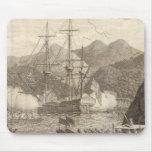 Naves de Británicos que encienden en Tahití Tapetes De Raton