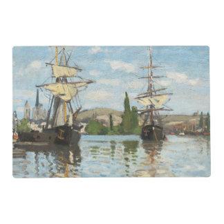 Naves de Claude Monet el | que montan en el Sena Salvamanteles