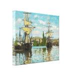 Naves de Claude Monet que montan en el Sena en Lona Envuelta Para Galerías