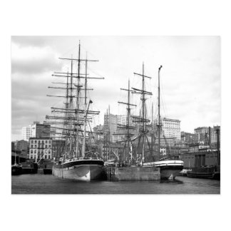 Naves de East River, 1900 Postal