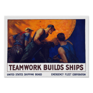 Naves de las estructuras del trabajo en equipo --  poster