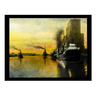 naves de los años 20 en Fort William, Ontario, Postales