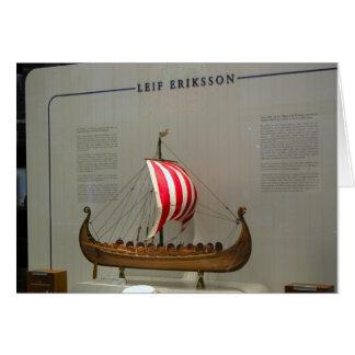 Naves de los exploradores del mundo, Leif Erikson, Tarjeta De Felicitación