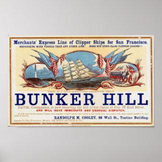 Naves de podadoras del Bunker Hill para el poster