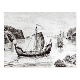 Naves de Viking Tarjeta Postal