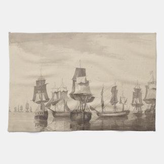 Naves del 26 de junio de 1776 toalla de mano