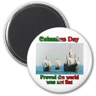 Naves del día de Colón Imán Redondo 5 Cm