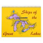 Naves del, grandes, lagos calendarios