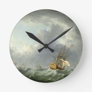 Naves del inglés que corren antes de un vendaval ( relojes de pared