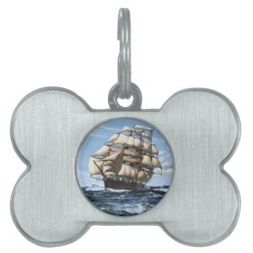 Naves del vintage de Sark del Cutty Placas De Mascota