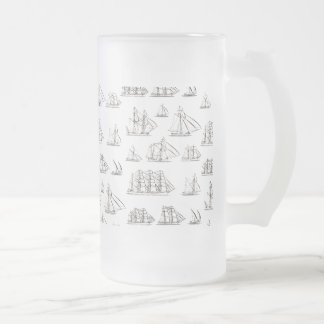 Naves del vintage taza cristal mate