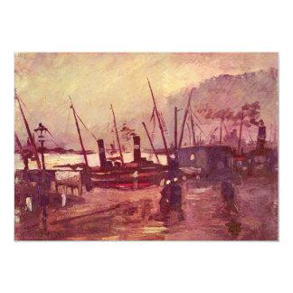 """Naves en Amberes de Vincent van Gogh Invitación 5"""" X 7"""""""
