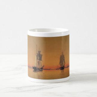 Naves en el puerto de Boston - Guillermo Bradford Taza