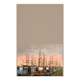 Naves en el puerto de Hamburgo, Alemania Papelería