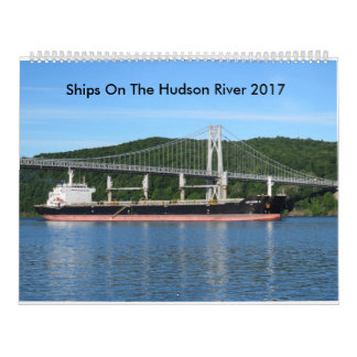 Naves en el río Hudson 2017 Calendarios De Pared