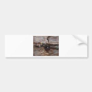 Naves en Venecia de Juan Boldini Pegatina Para Auto