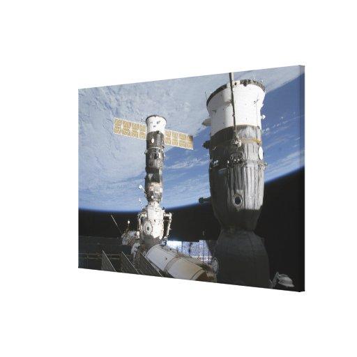 Naves espaciales del ruso Soyuz y del progreso Impresiones En Lona Estiradas