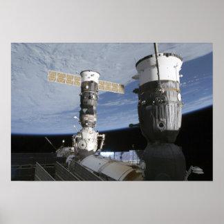 Naves espaciales del ruso Soyuz y del progreso Impresiones