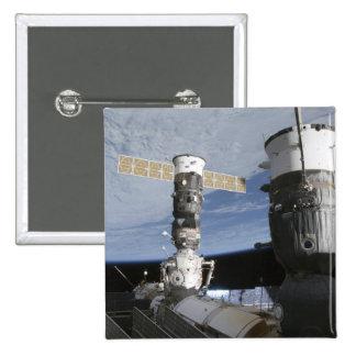 Naves espaciales del ruso Soyuz y del progreso Pin Cuadrado