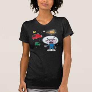 Naves espaciales usadas - camiseta menuda de las