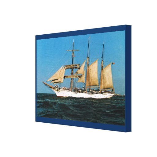 "Naves históricas del vintage, ""Mercator"", Bélgica Impresión De Lienzo"