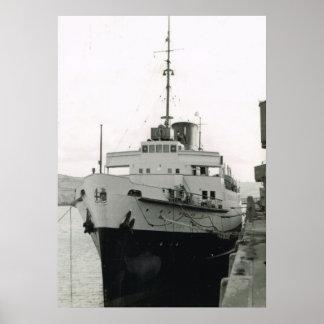 "Naves históricas del vintage,   ""RMS St David', Poster"