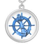 Naves náuticas azules rueda y ancla joyerias personalizadas