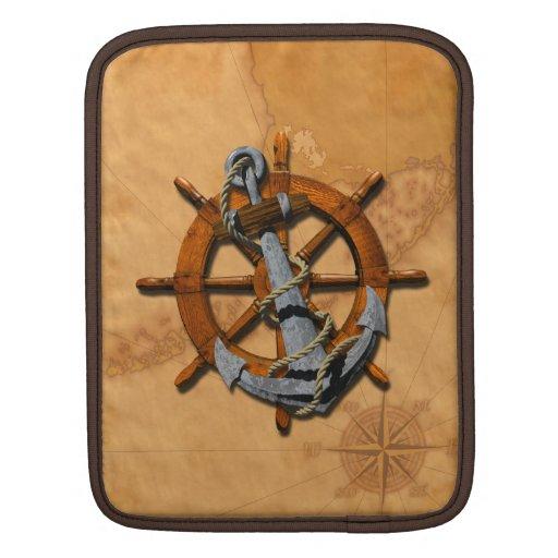 Naves náuticas rueda y ancla fundas para iPads