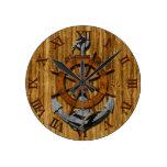 Naves náuticas rueda y ancla relojes