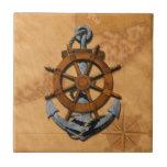Naves náuticas rueda y ancla tejas