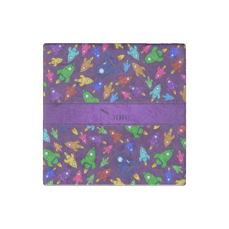 Naves púrpuras conocidas personalizadas del cohete imán de piedra
