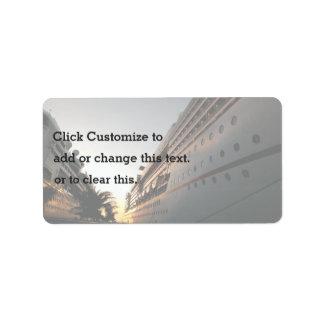 Naves que comparten un muelle etiqueta de dirección