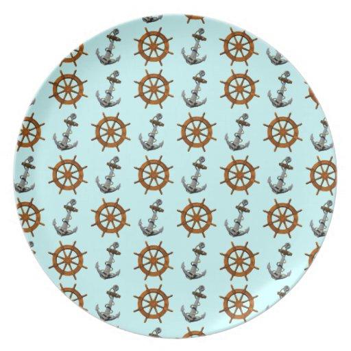 Naves rueda y ancla platos para fiestas