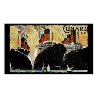 Naves titánicas en el puerto 1912 tarjetas de visita