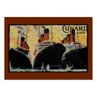 Naves titánicas en el puerto 1912 tarjetas de visita grandes