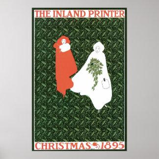 Navidad 1895 de Nouveau del arte del vintage Impresiones