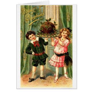 Navidad 1905 del pudín de Figgy Tarjeta Pequeña