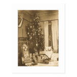 Navidad 1906 del vintage tarjeta postal