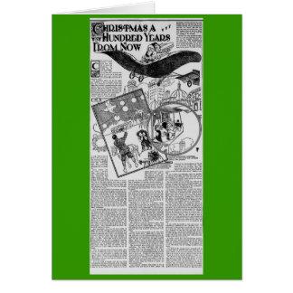 Navidad 1909 del artículo periodístico de Harlem M Tarjeta De Felicitación