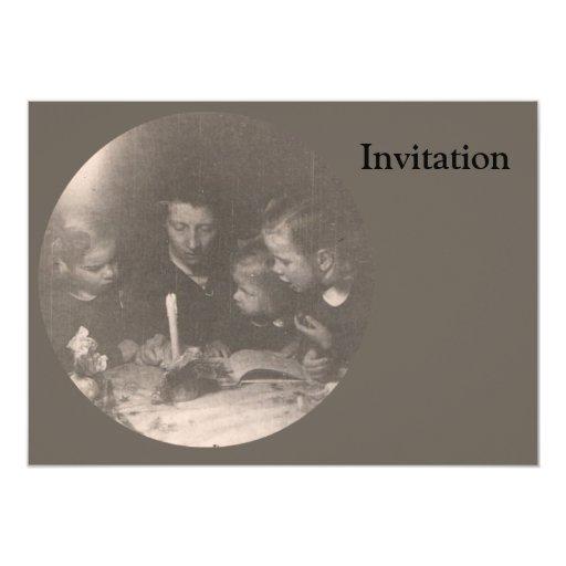 Navidad 1946 invitación 12,7 x 17,8 cm