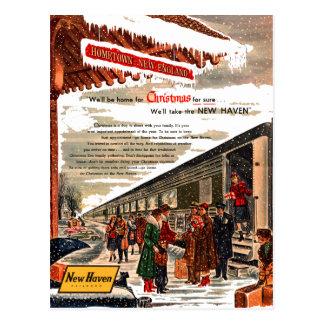 Navidad 1947 del ferrocarril de New Haven Postal