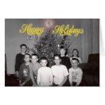 Navidad 1964-2006 del vintage de Rodning Tarjetón