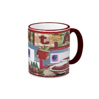 Navidad 1 del libro de recuerdos taza a dos colores