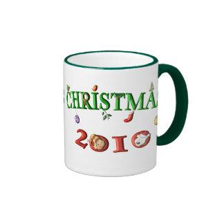 Navidad 2010 tazas de café