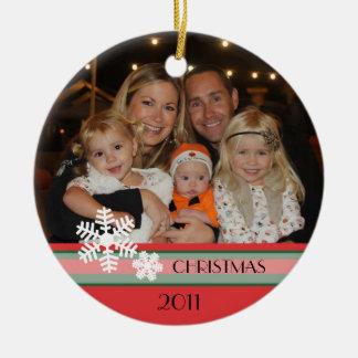 Navidad 2011 adorno redondo de cerámica