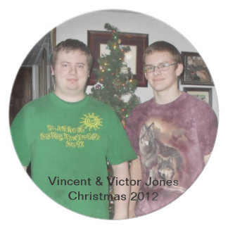 Navidad 2012 de Jones de Vincent y del vencedor Plato De Cena