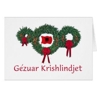 Navidad 2 de Albania Tarjeta De Felicitación