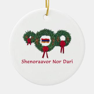 Navidad 2 de Armenia Adorno Redondo De Cerámica