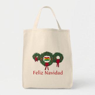 Navidad 2 de Bolivia Bolsa Tela Para La Compra