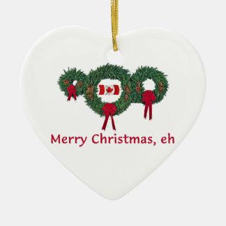 Navidad 2 de Canadá Adorno De Cerámica En Forma De Corazón